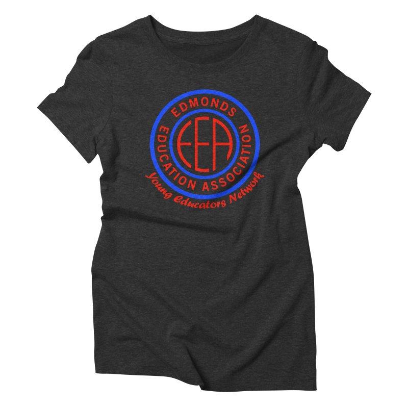 Edmonds EA Seal-Young Educators Network Women's Triblend T-Shirt by Edmonds Education Association Swag Shop