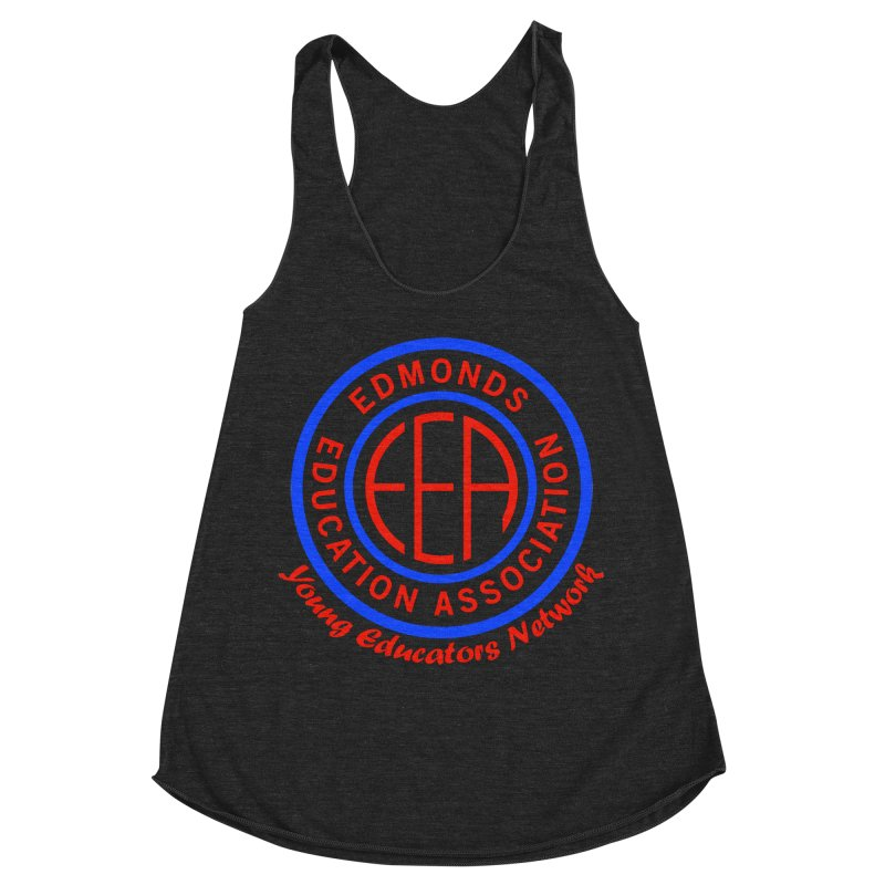 Edmonds EA Seal-Young Educators Network Women's Racerback Triblend Tank by Edmonds Education Association Swag Shop