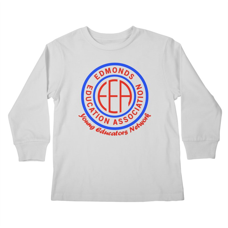 Edmonds EA Seal-Young Educators Network Kids Longsleeve T-Shirt by Edmonds Education Association Swag Shop