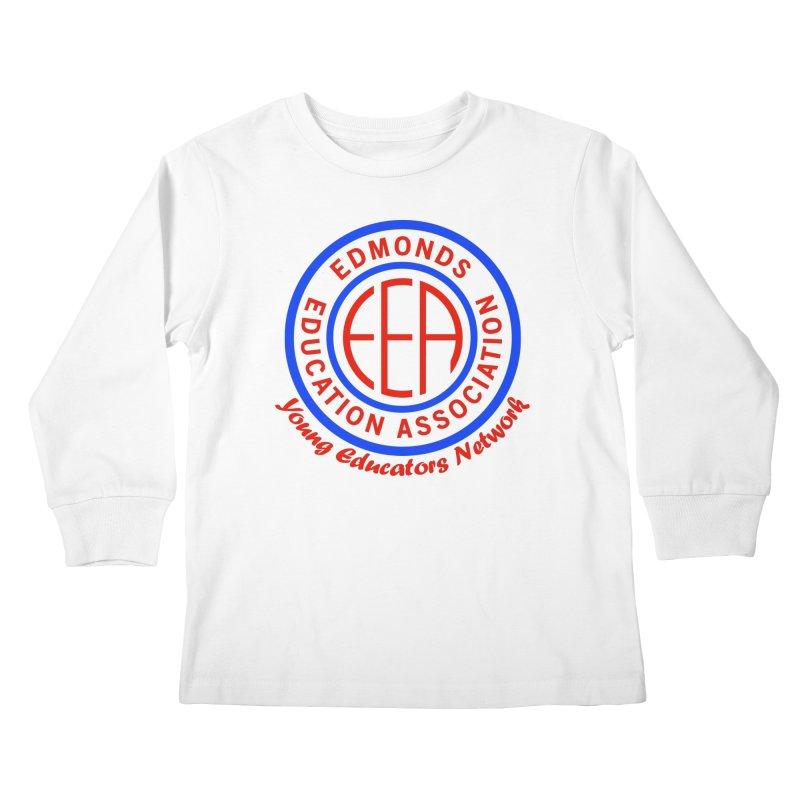 Edmonds EA Seal-Young Educators Network Kids Longsleeve T-Shirt by Edmonds Education Association Swag Shop