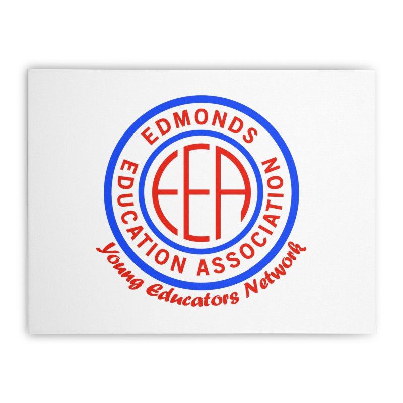 Edmonds EA Seal-Young Educators Network Home Stretched Canvas by Edmonds Education Association Swag Shop