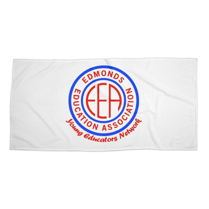 Edmonds EA Seal-Young Educators Network Accessories Beach Towel by Edmonds Education Association Swag Shop