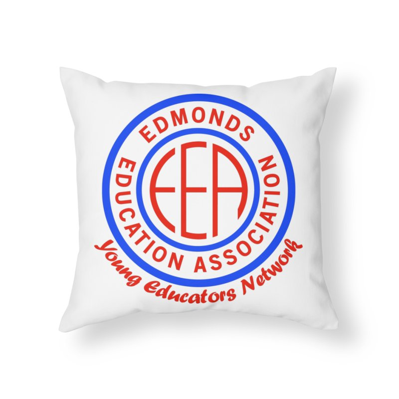 Edmonds EA Seal-Young Educators Network Home Throw Pillow by Edmonds Education Association Swag Shop