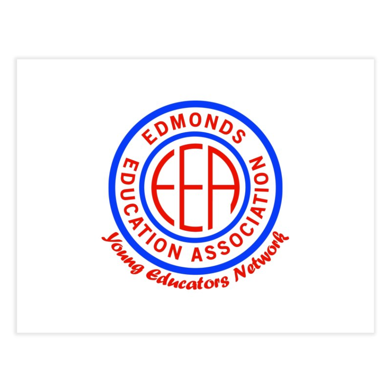 Edmonds EA Seal-Young Educators Network Home Fine Art Print by Edmonds Education Association Swag Shop