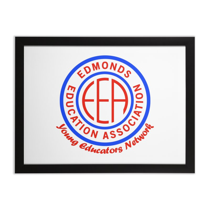 Edmonds EA Seal-Young Educators Network Home Framed Fine Art Print by Edmonds Education Association Swag Shop