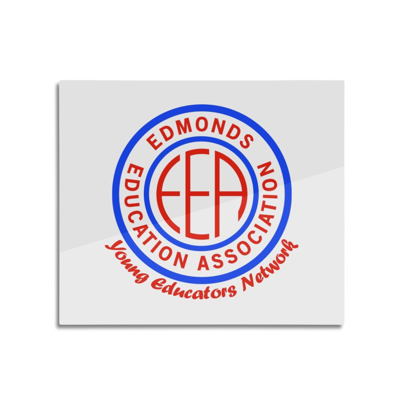Edmonds EA Seal-Young Educators Network Home Mounted Aluminum Print by Edmonds Education Association Swag Shop