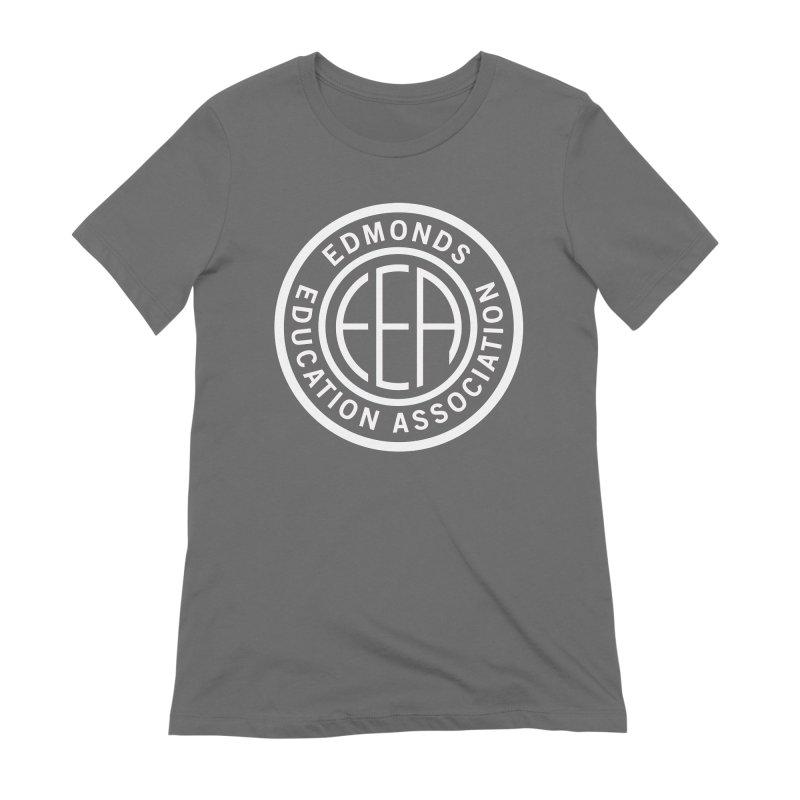Edmonds EA Seal White-Full Size Women's Extra Soft T-Shirt by Edmonds Education Association Swag Shop