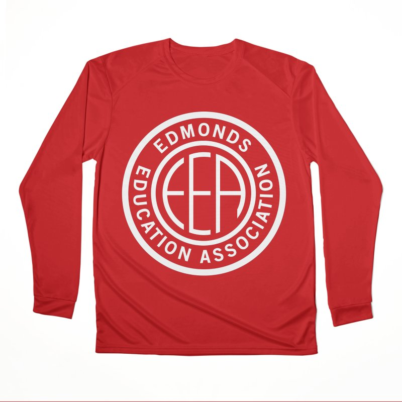 Edmonds EA Seal White-Full Size Women's Performance Unisex Longsleeve T-Shirt by Edmonds Education Association Swag Shop