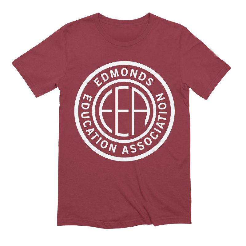 Edmonds EA Seal White-Full Size Men's Extra Soft T-Shirt by Edmonds Education Association Swag Shop