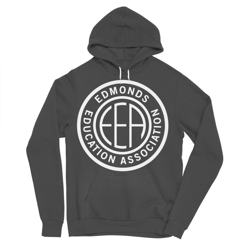 Edmonds EA Seal White-Full Size Men's Sponge Fleece Pullover Hoody by Edmonds Education Association Swag Shop