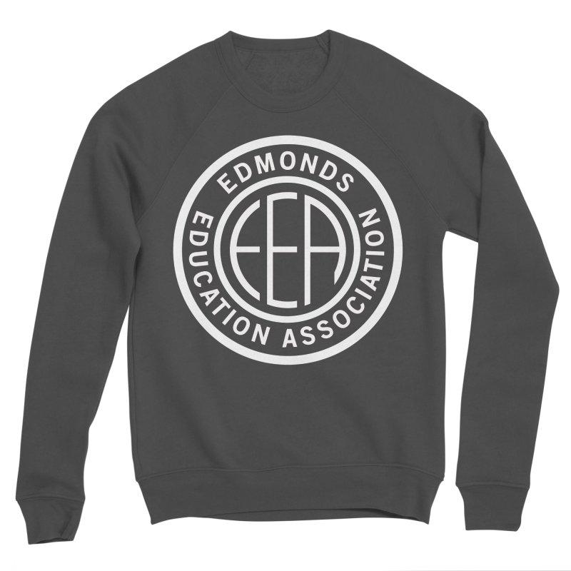 Edmonds EA Seal White-Full Size Men's Sponge Fleece Sweatshirt by Edmonds Education Association Swag Shop