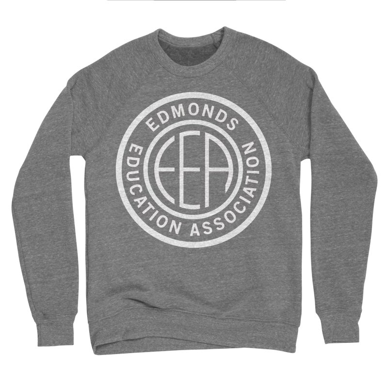 Edmonds EA Seal White-Full Size Men's Sponge Fleece Sweatshirt by Edmonds Education Association Swag Shop