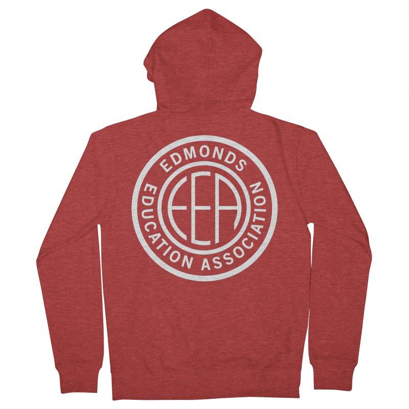 Edmonds EA Seal White-Full Size Men's Zip-Up Hoody by Edmonds Education Association Swag Shop