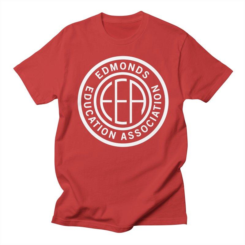 Edmonds EA Seal White-Full Size Men's T-Shirt by Edmonds Education Association Swag Shop