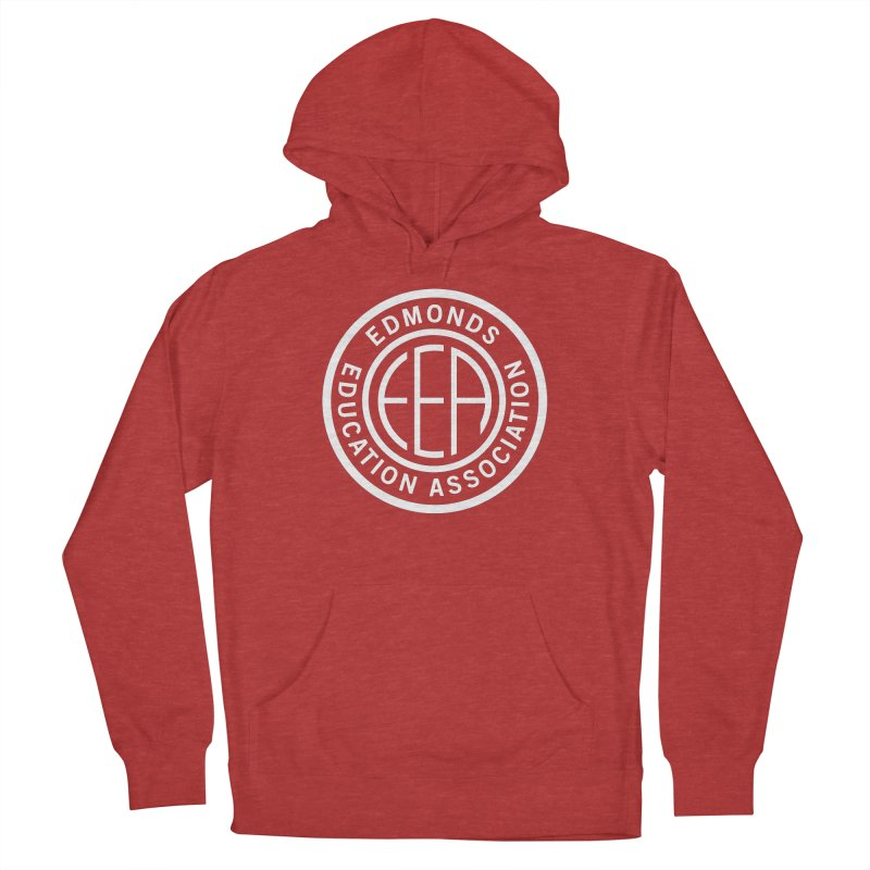 Edmonds EA Seal White-Full Size Men's French Terry Pullover Hoody by Edmonds Education Association Swag Shop