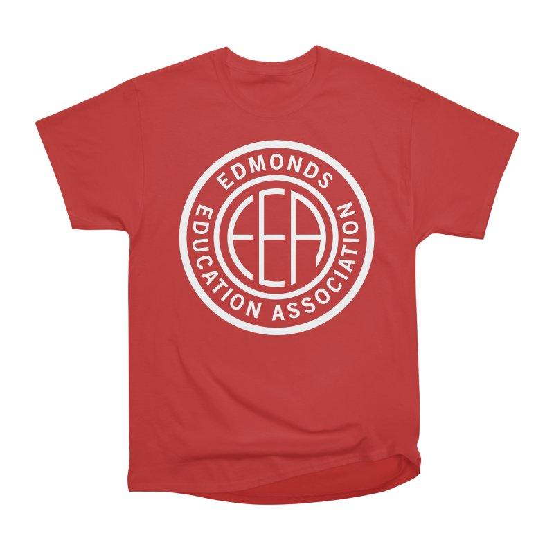 Edmonds EA Seal White-Full Size Women's Heavyweight Unisex T-Shirt by Edmonds Education Association Swag Shop