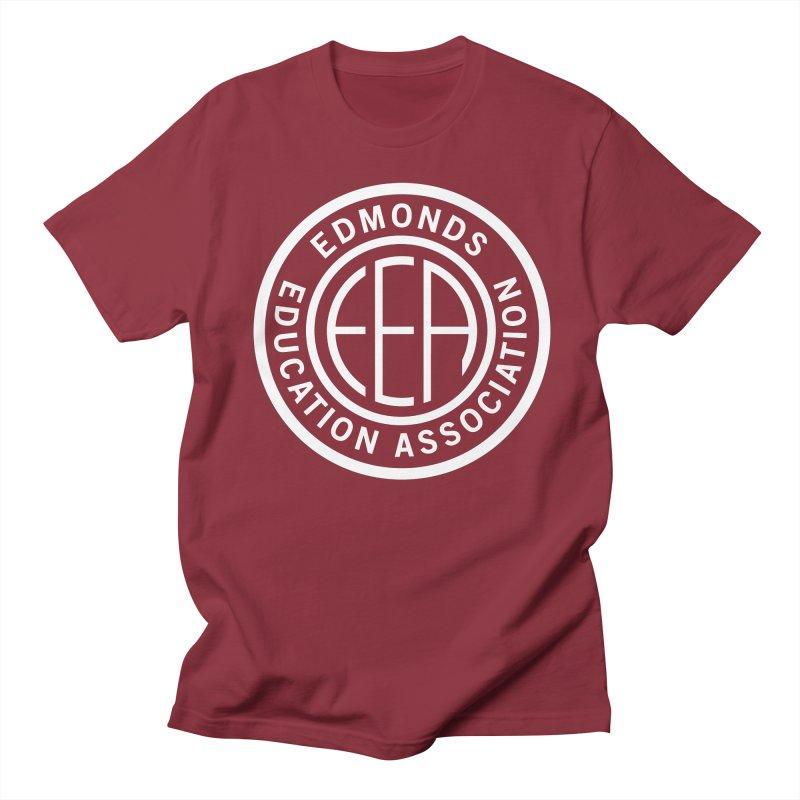 Edmonds EA Seal White-Full Size Men's Regular T-Shirt by Edmonds Education Association Swag Shop