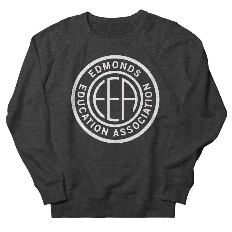 Edmonds EA Seal White-Full Size Men's French Terry Sweatshirt by Edmonds Education Association Swag Shop
