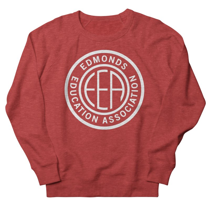 Edmonds EA Seal White-Full Size Men's Sweatshirt by Edmonds Education Association Swag Shop