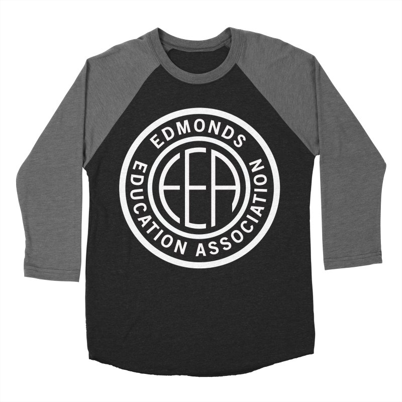 Edmonds EA Seal White-Full Size Men's Baseball Triblend Longsleeve T-Shirt by Edmonds Education Association Swag Shop