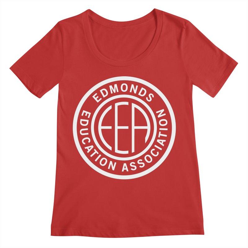 Edmonds EA Seal White-Full Size Women's Regular Scoop Neck by Edmonds Education Association Swag Shop