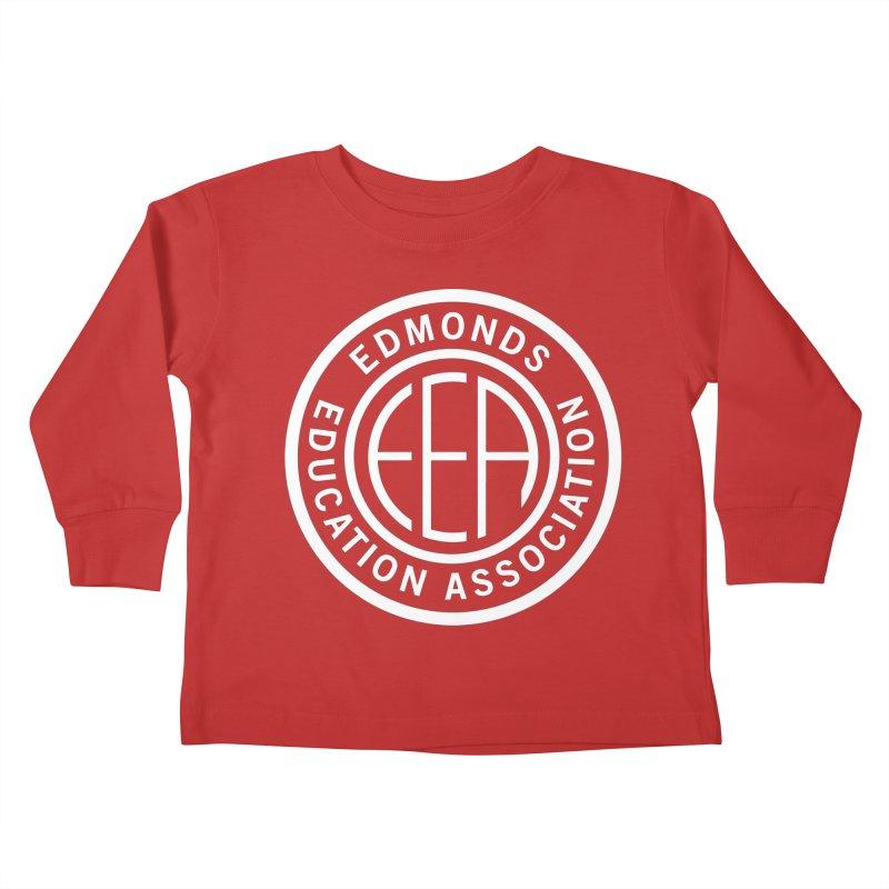 Edmonds EA Seal White-Full Size Kids Toddler Longsleeve T-Shirt by Edmonds Education Association Swag Shop