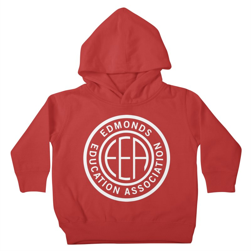 Edmonds EA Seal White-Full Size Kids Toddler Pullover Hoody by Edmonds Education Association Swag Shop