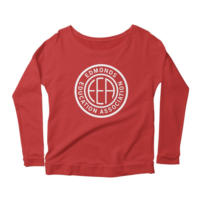 Edmonds EA Seal White-Full Size Women's Scoop Neck Longsleeve T-Shirt by Edmonds Education Association Swag Shop