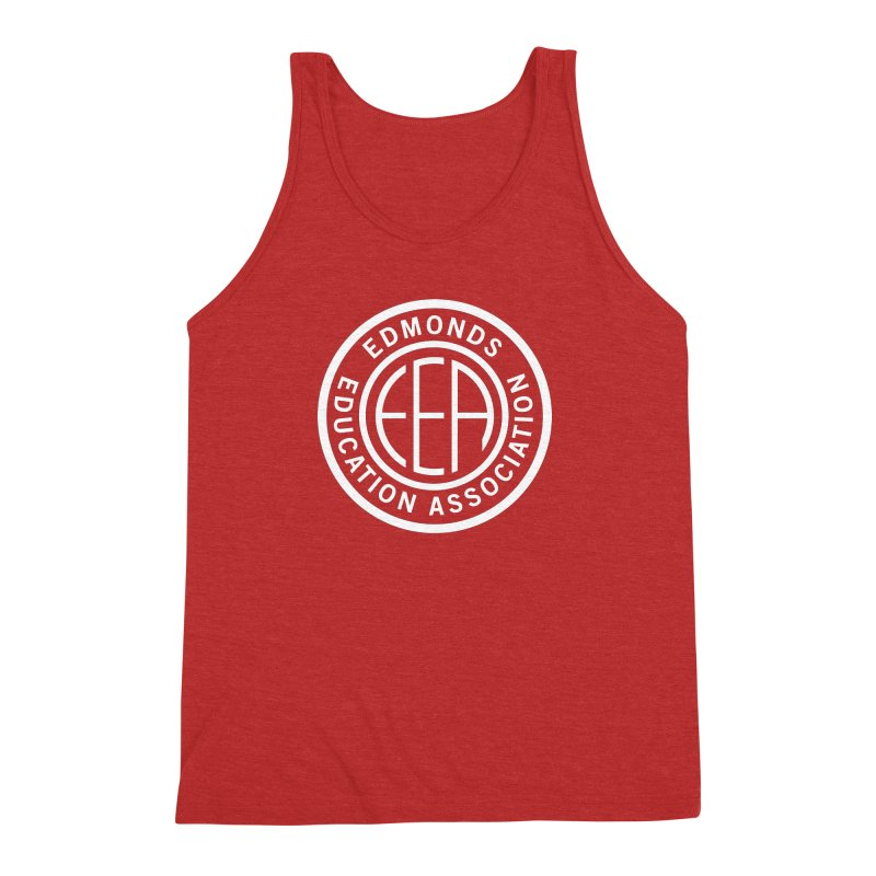 Edmonds EA Seal White-Full Size Men's Triblend Tank by Edmonds Education Association Swag Shop