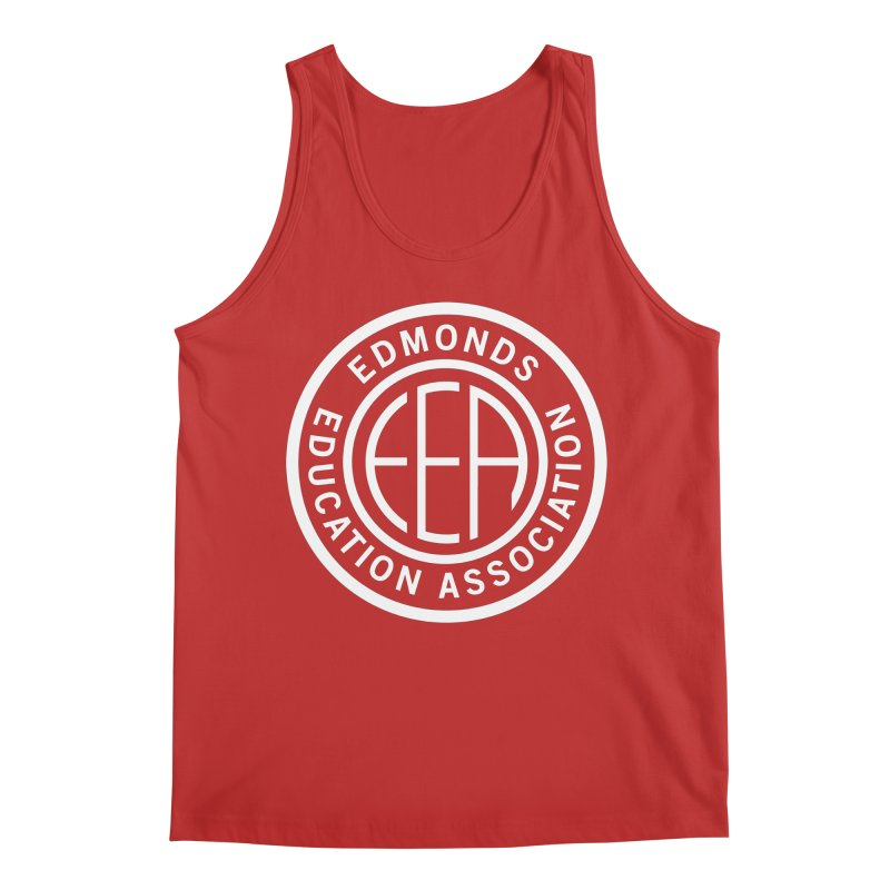 Edmonds EA Seal White-Full Size Men's Regular Tank by Edmonds Education Association Swag Shop