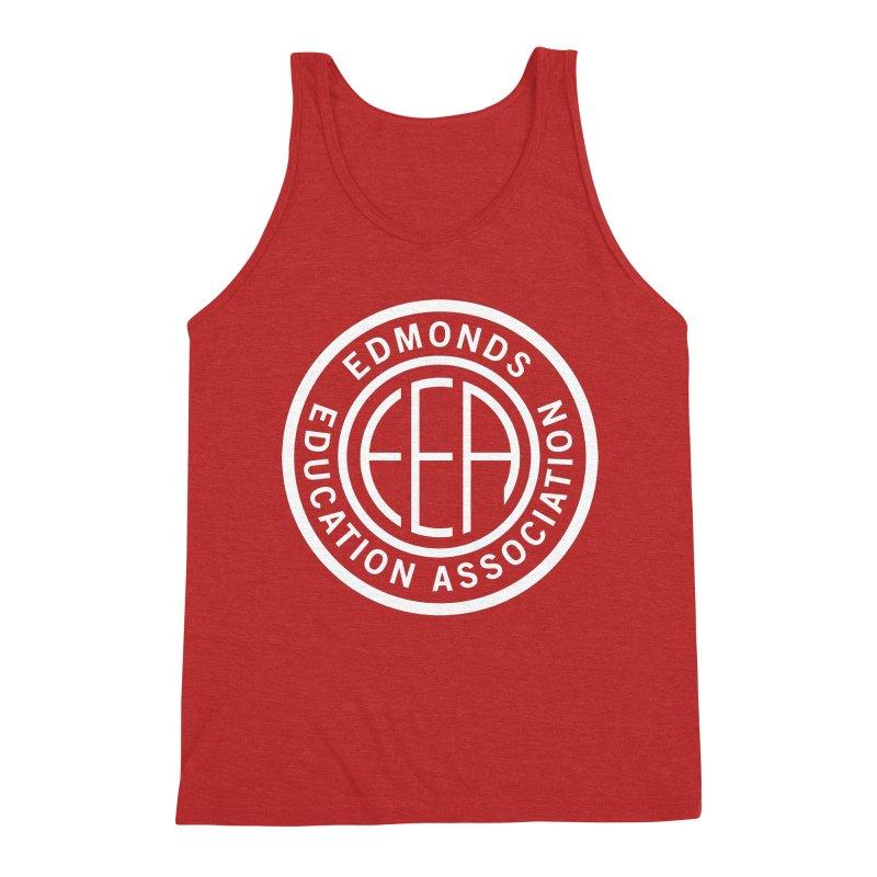 Edmonds EA Seal White-Full Size Men's Triblend Tank by Edmonds Education Association Swag Shop