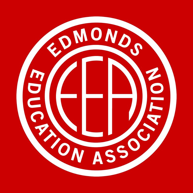 Edmonds EA Seal White-Logo Size Men's T-Shirt by Edmonds Education Association Swag Shop