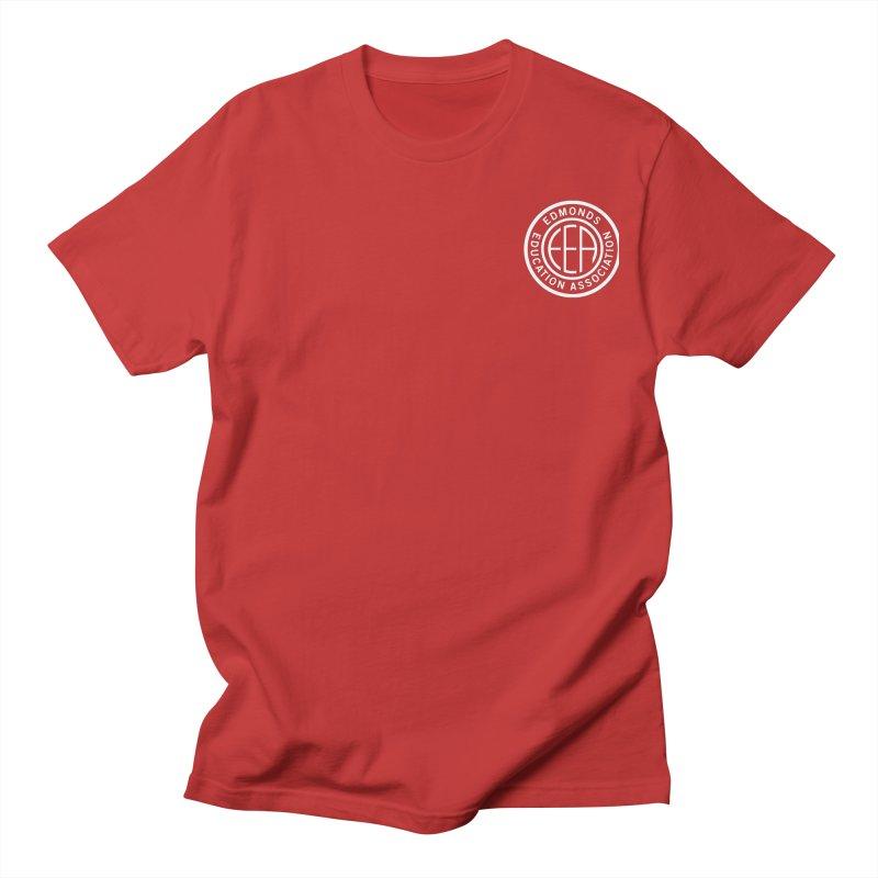 Edmonds EA Seal White-Logo Size Men's T-Shirt by Edmonds Education Association Swag Shop