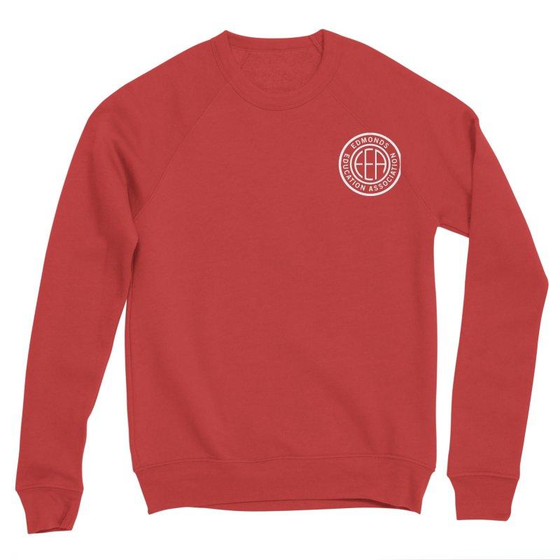 Edmonds EA Seal White-Logo Size Women's Sponge Fleece Sweatshirt by Edmonds Education Association Swag Shop