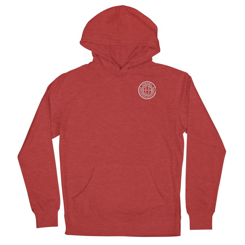 Edmonds EA Seal White-Logo Size Men's French Terry Pullover Hoody by Edmonds Education Association Swag Shop