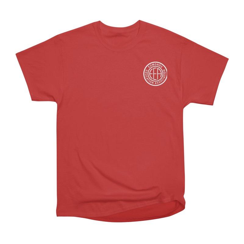 Edmonds EA Seal White-Logo Size Women's Heavyweight Unisex T-Shirt by Edmonds Education Association Swag Shop
