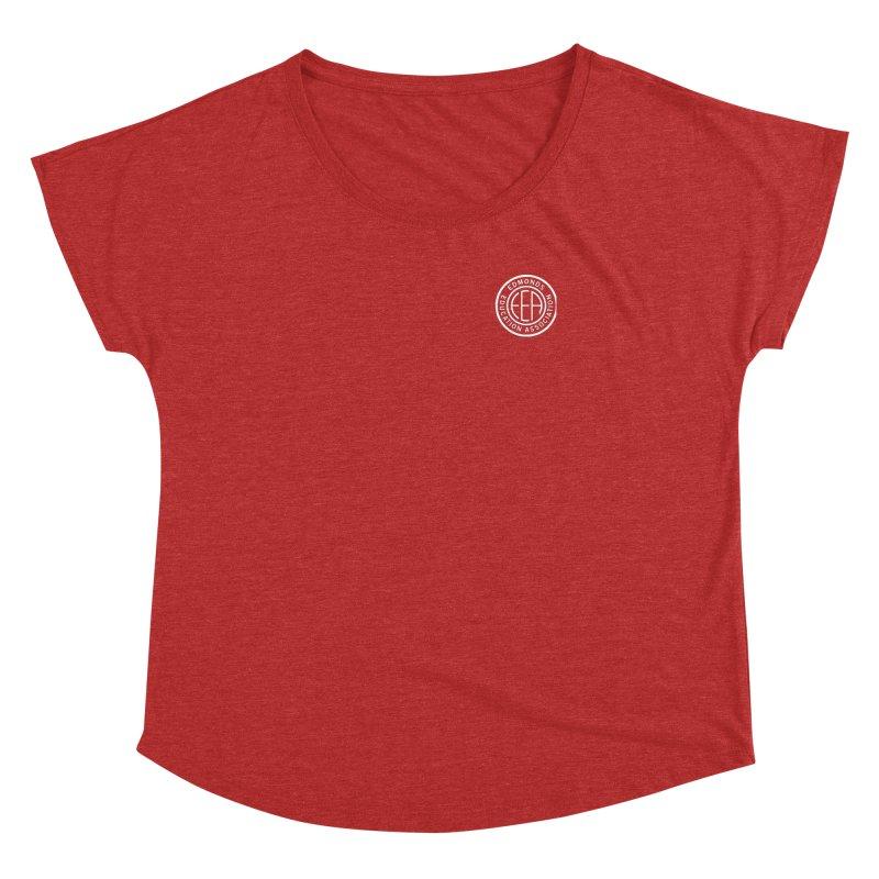 Edmonds EA Seal White-Logo Size Women's Dolman Scoop Neck by Edmonds Education Association Swag Shop
