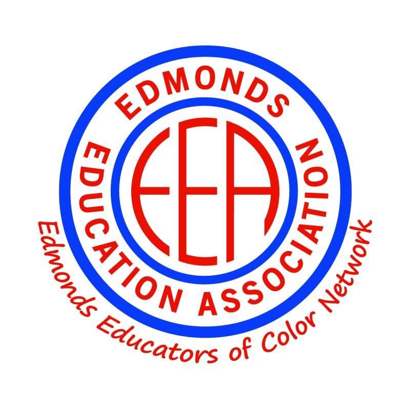 Edmonds EA Seal-Edmonds Educators of Color Network Men's T-Shirt by Edmonds Education Association Swag Shop