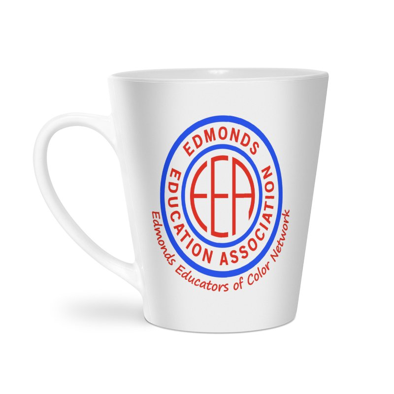 Edmonds EA Seal-Edmonds Educators of Color Network Accessories Latte Mug by Edmonds Education Association Swag Shop