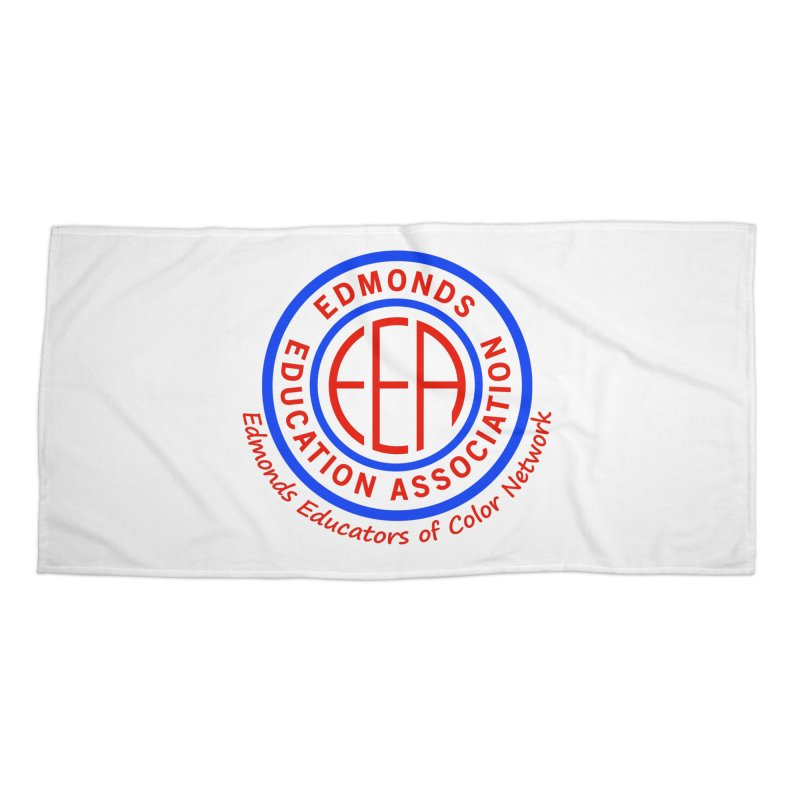 Edmonds EA Seal-Edmonds Educators of Color Network Accessories Beach Towel by Edmonds Education Association Swag Shop