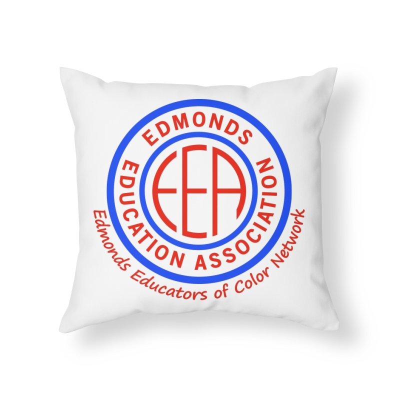 Edmonds EA Seal-Edmonds Educators of Color Network Home Throw Pillow by Edmonds Education Association Swag Shop