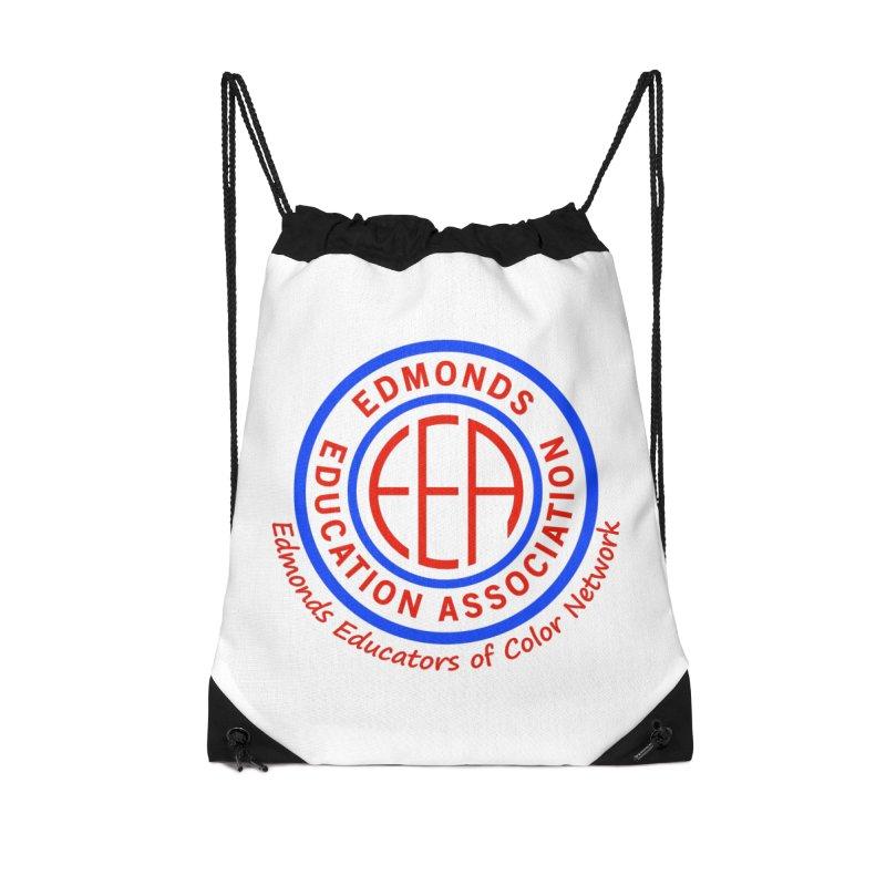 Edmonds EA Seal-Edmonds Educators of Color Network Accessories Drawstring Bag Bag by Edmonds Education Association Swag Shop