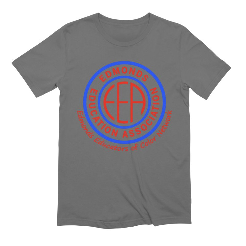 Edmonds EA Seal-Edmonds Educators of Color Network Men's T-Shirt by Edmonds Education Association Swag Shop