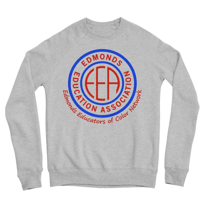 Edmonds EA Seal-Edmonds Educators of Color Network Men's Sponge Fleece Sweatshirt by Edmonds Education Association Swag Shop