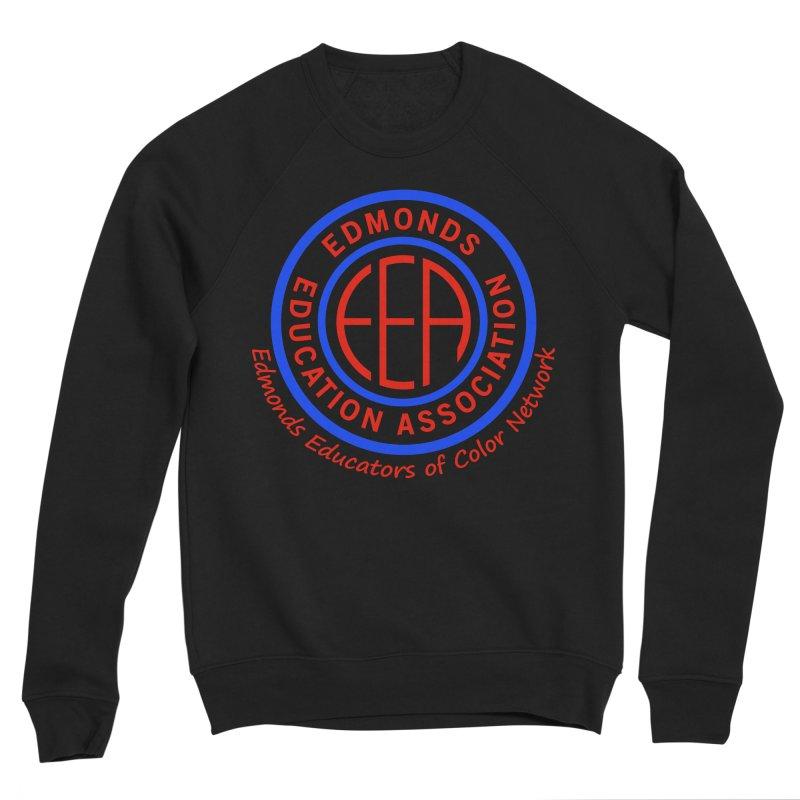 Edmonds EA Seal-Edmonds Educators of Color Network Men's Sponge Fleece Sweatshirt by Edmonds Education Association Swag Shop