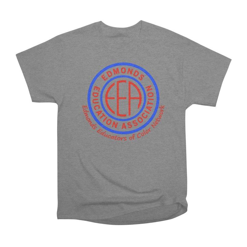 Edmonds EA Seal-Edmonds Educators of Color Network Men's Heavyweight T-Shirt by Edmonds Education Association Swag Shop