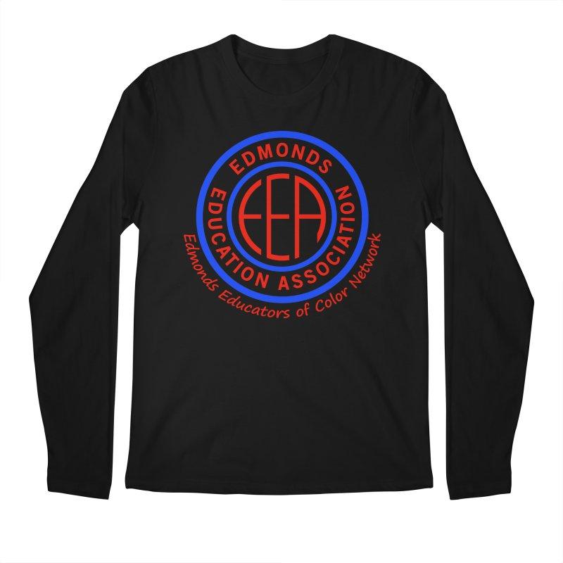 Edmonds EA Seal-Edmonds Educators of Color Network Men's Regular Longsleeve T-Shirt by Edmonds Education Association Swag Shop