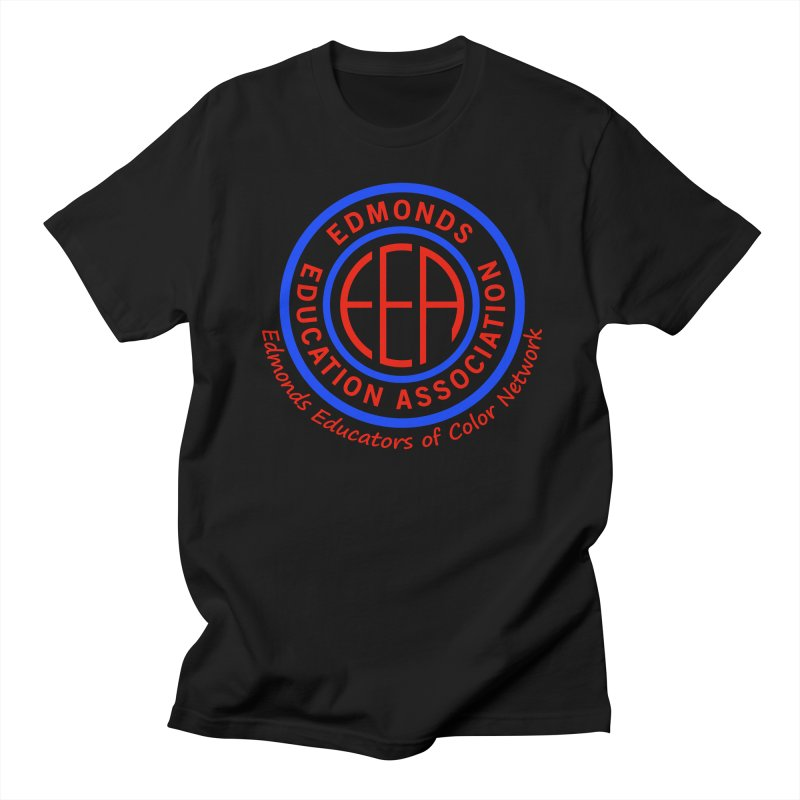 Edmonds EA Seal-Edmonds Educators of Color Network Men's Regular T-Shirt by Edmonds Education Association Swag Shop