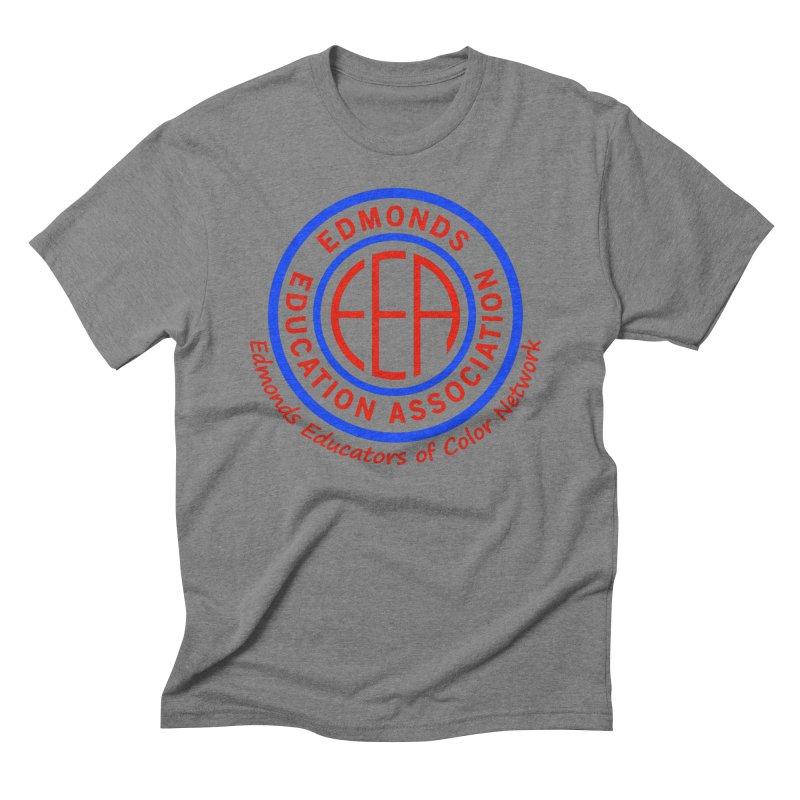 Edmonds EA Seal-Edmonds Educators of Color Network Men's Triblend T-Shirt by Edmonds Education Association Swag Shop