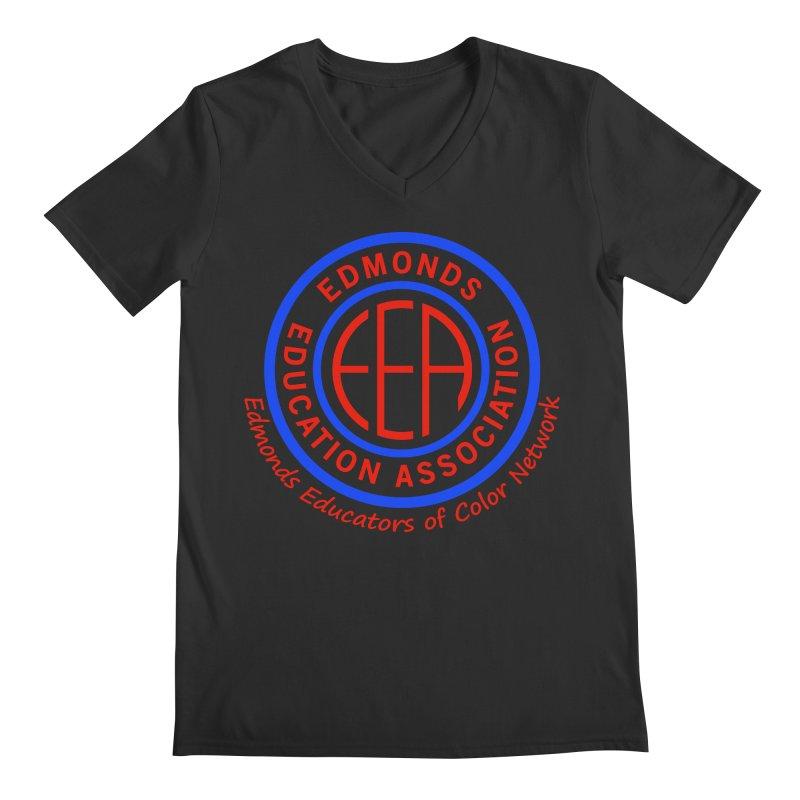 Edmonds EA Seal-Edmonds Educators of Color Network Men's Regular V-Neck by Edmonds Education Association Swag Shop
